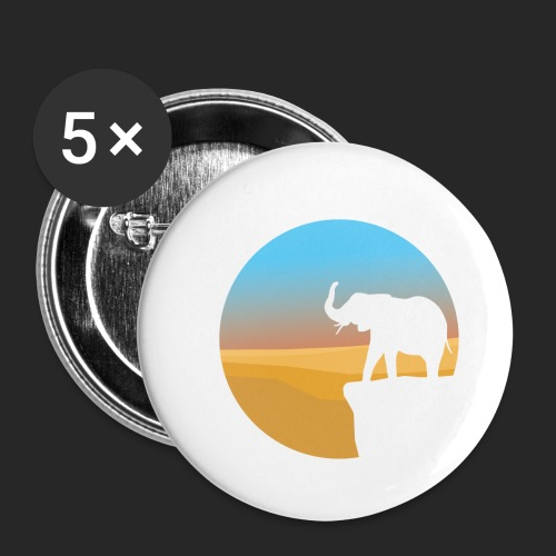 Sunset Elephant - Buttons small 1''/25 mm (5-pack)