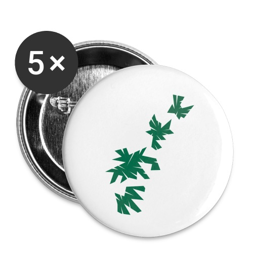Green Leaves - Buttons klein 25 mm (5er Pack)