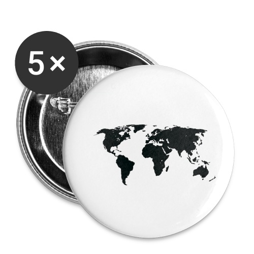 World - Buttons/Badges lille, 25 mm (5-pack)