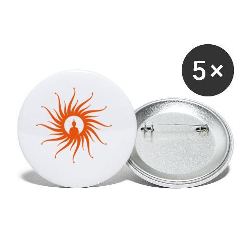 Buddha Sun - Buttons klein 25 mm (5er Pack)
