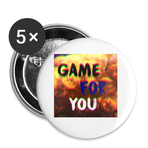Badge pour la team et les fans GameForYou - Lot de 5 petits badges (25 mm)
