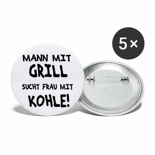 Mann mit Grill - Buttons klein 25 mm (5er Pack)