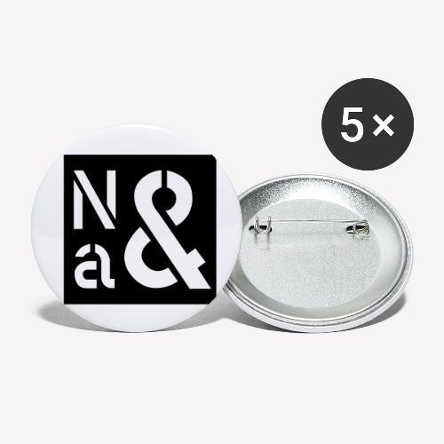 Na Und - Buttons klein 25 mm (5er Pack)