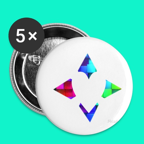 4lof - Buttons klein 25 mm (5-pack)