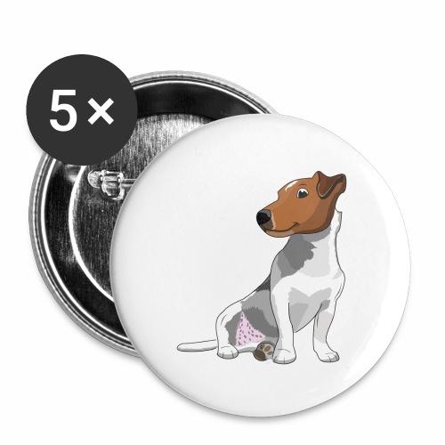 Jack Russell - Lot de 5 petits badges (25 mm)