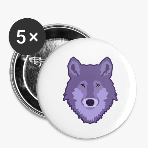 Spirit Wolf - Buttons/Badges lille, 25 mm (5-pack)
