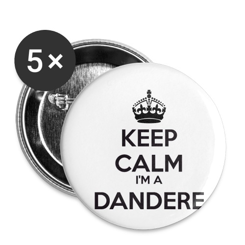 Dandere keep calm - Buttons small 1''/25 mm (5-pack)
