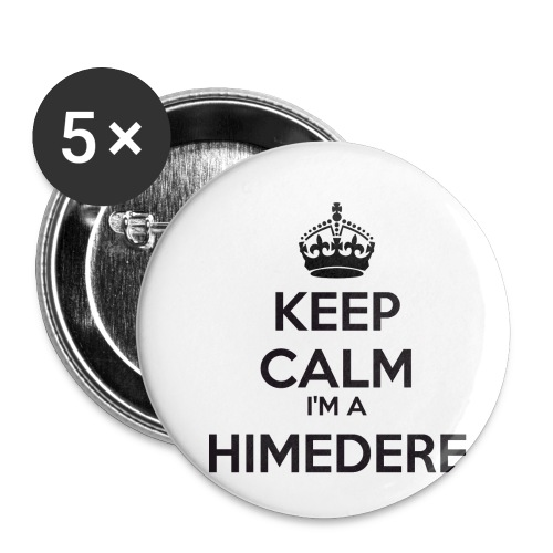 Himedere keep calm - Buttons small 1''/25 mm (5-pack)