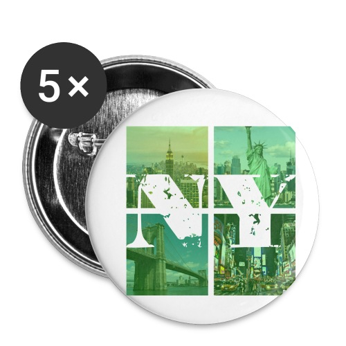 NEW YORK GREEN - Buttons klein 25 mm (5er Pack)