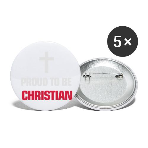 PROUD TO BE CHRISTIAN - Buttons small 1''/25 mm (5-pack)