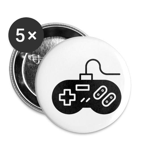manette - Lot de 5 petits badges (25 mm)
