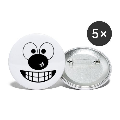 Funny cartoon face - Buttons small 1''/25 mm (5-pack)