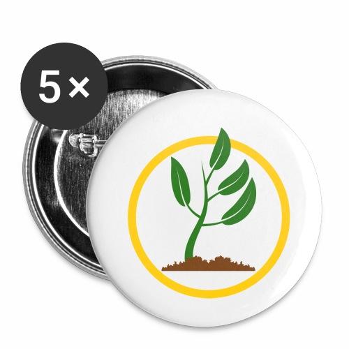 Setzlingemblem - Buttons klein 25 mm (5er Pack)