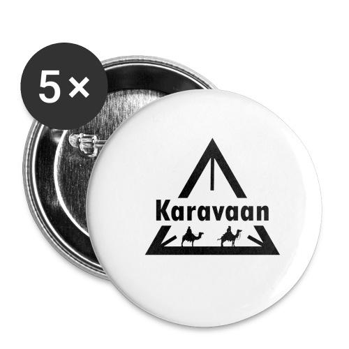 Karavaan Black (High Res) - Buttons klein 25 mm (5-pack)