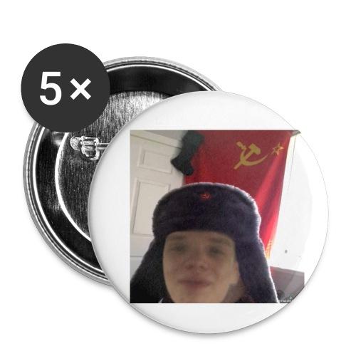 Kommunisti Saska - Rintamerkit pienet 25 mm (5kpl pakkauksessa)