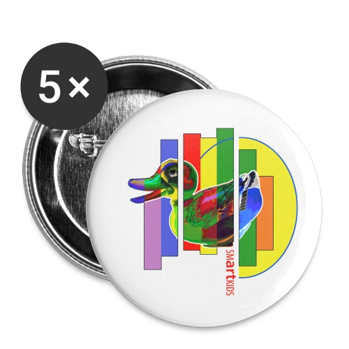 smARTkids - Gutsy Duck - Buttons small 1''/25 mm (5-pack)