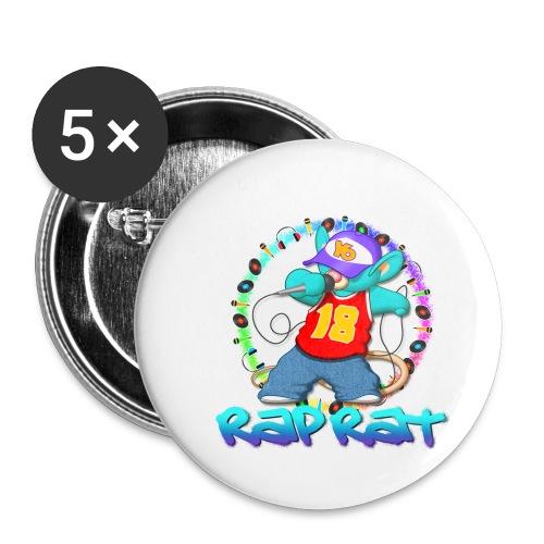 Rap Rat - Confezione da 5 spille piccole (25 mm)