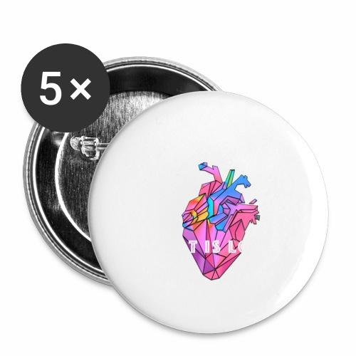WHAT IS LOVE - Liten pin 25 mm (5-er pakke)