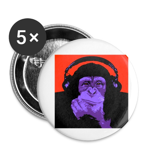 project dj monkey - Buttons klein 25 mm (5-pack)