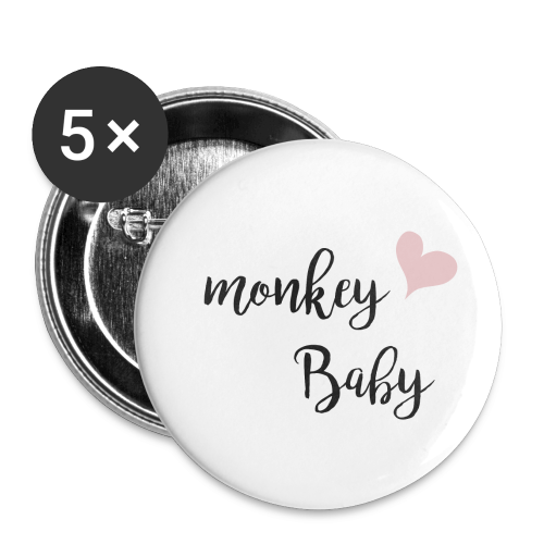 monkey baby - Buttons klein 25 mm (5er Pack)