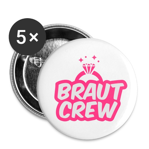 Braut Crew - JGA T-Shirt - JGA Shirt - Party - Buttons klein 25 mm