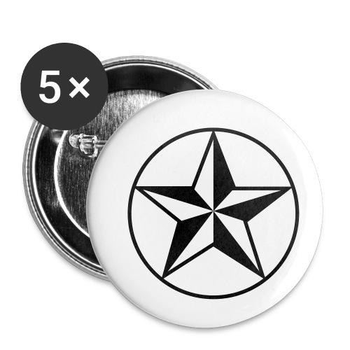Star - Confezione da 5 spille piccole (25 mm)