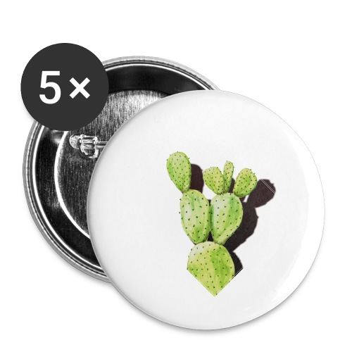 Cactus - Buttons klein 25 mm (5er Pack)