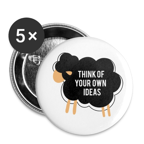Think of your own idea! - Buttons small 1''/25 mm (5-pack)