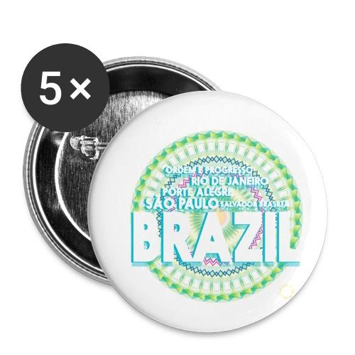 Lemon Brazil Mandala - Lot de 5 petits badges (25 mm)