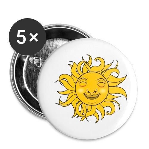 Sol - Paquete de 5 chapas pequeñas (25 mm)
