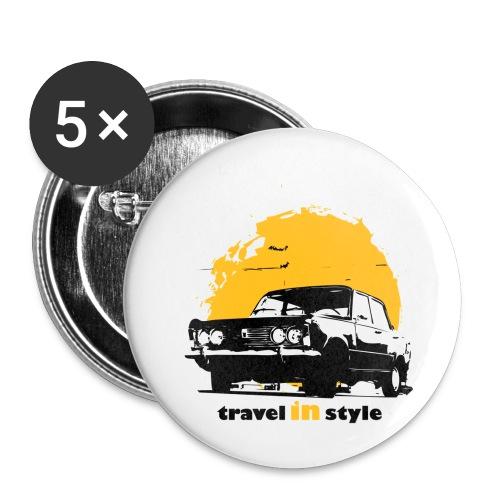 Travel in style - Przypinka mała 25 mm (pakiet 5 szt.)