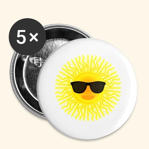 Sol de Canarias - Paquete de 5 chapas pequeñas (25 mm)