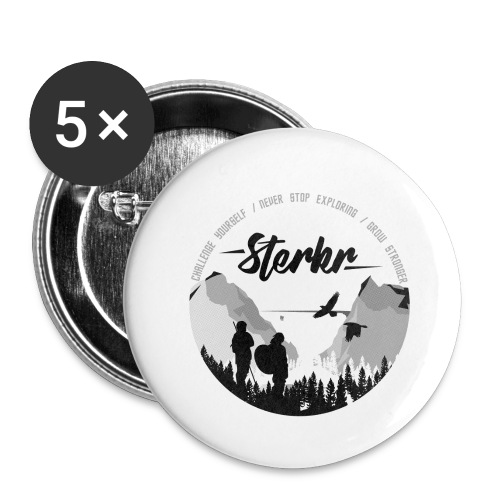 STERKR - Fjordview - Buttons small 1''/25 mm (5-pack)
