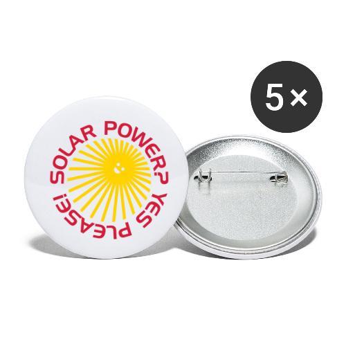 BD Solar Power - Buttons klein 25 mm (5er Pack)