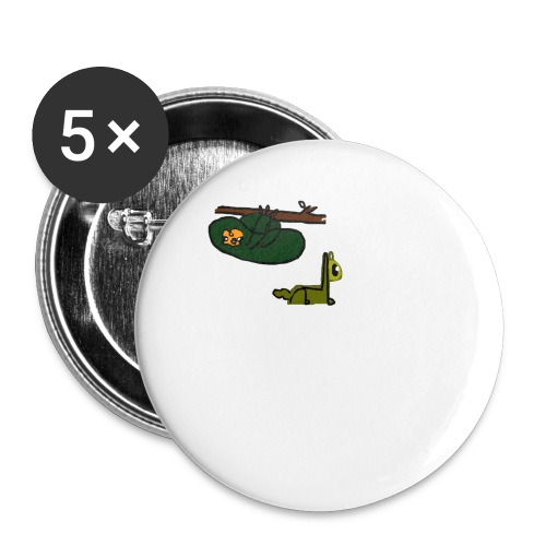 Sloth + Llama - Buttons small 1''/25 mm (5-pack)