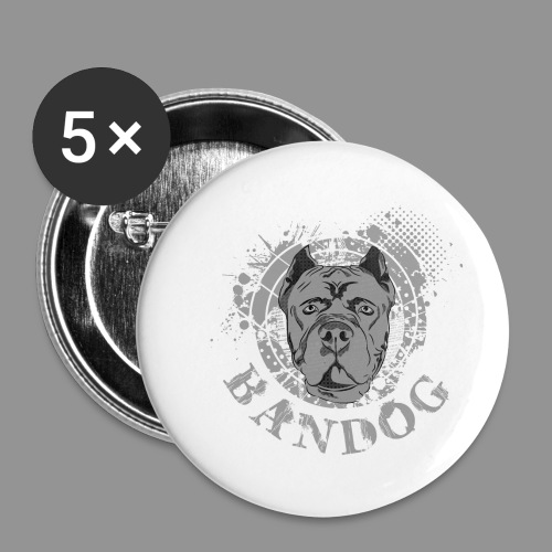 Bandog - Buttons small 1''/25 mm (5-pack)