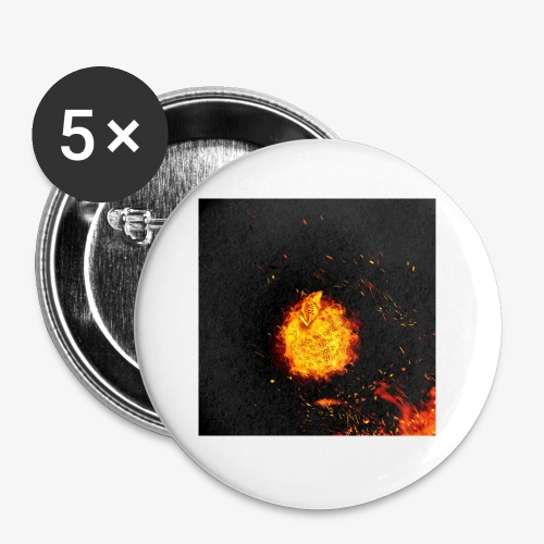 FIRE BEAST - Buttons klein 25 mm (5-pack)