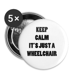 JustaWheelchair - Buttons klein 25 mm
