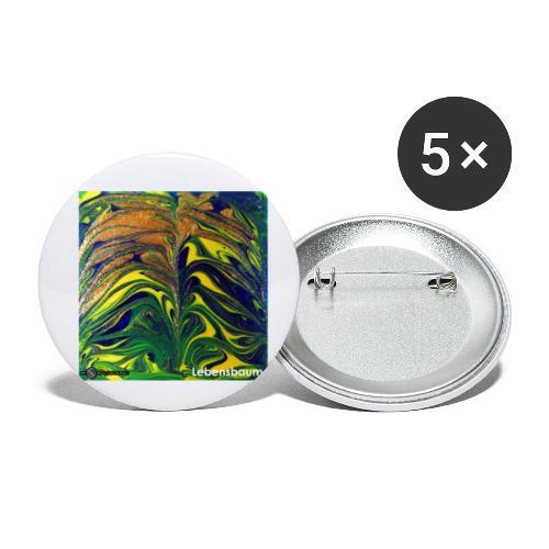 TIAN GREEN Mosaik DE029 - Lebensbaum - Buttons klein 25 mm (5er Pack)