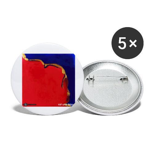 TIAN GREEN Mosaik DE023 - Rot und Blau - Buttons klein 25 mm (5er Pack)