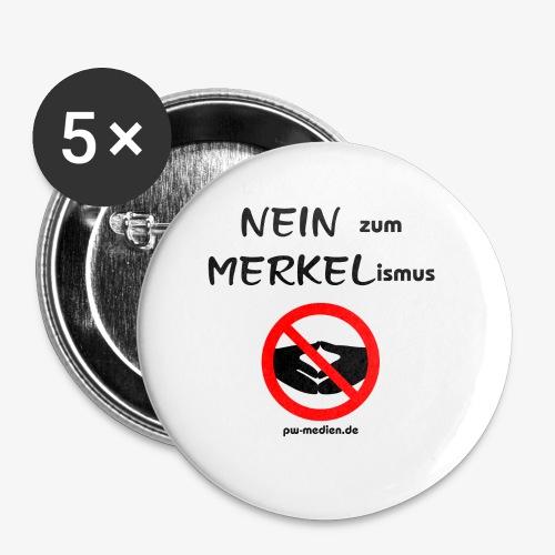 NEIN zum MERKELismus - Buttons klein 25 mm