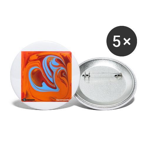 TIAN GREEN Mosaik DK005 - Herzenswelten - Buttons klein 25 mm (5er Pack)