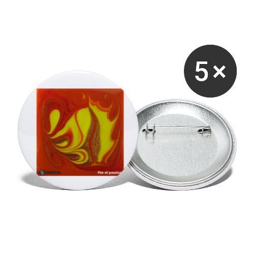 TIAN GREEN Mosaik DK011 - Fire of passion - Buttons klein 25 mm (5er Pack)