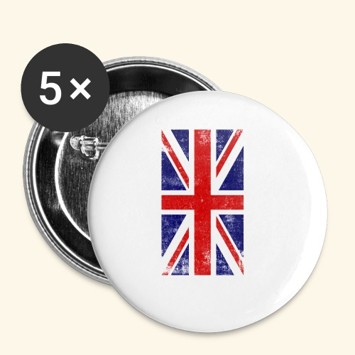 England Flagge - Buttons klein 25 mm (5er Pack)