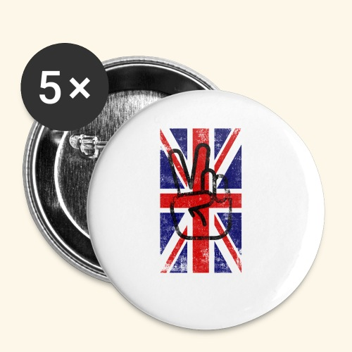 England peace - Buttons klein 25 mm (5er Pack)