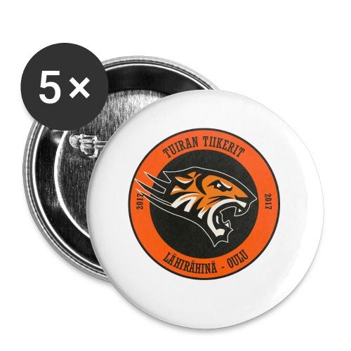 Tuiran Tiikerit, värikäs logo - Rintamerkit pienet 25 mm (5kpl pakkauksessa)