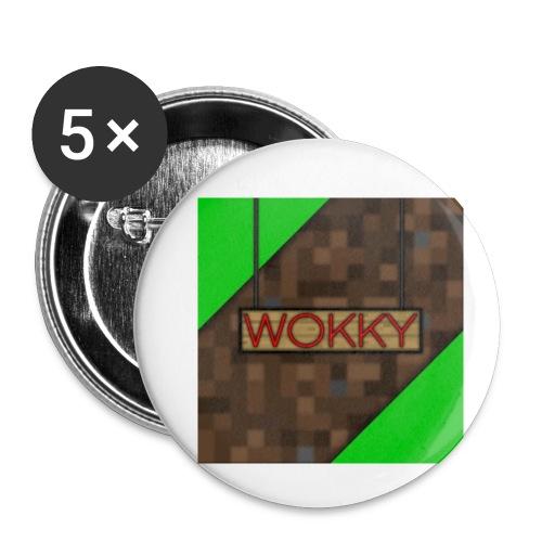 Wokky T Shirt - Små knappar 25 mm (5-pack)
