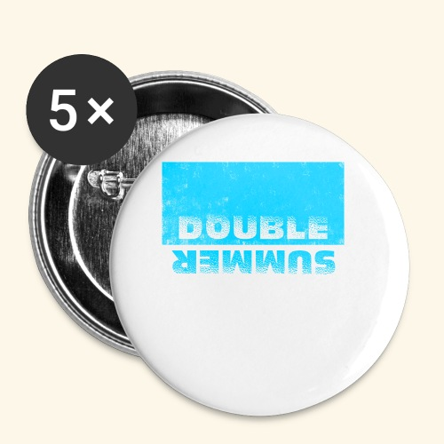 Double Summer - Buttons klein 25 mm (5er Pack)
