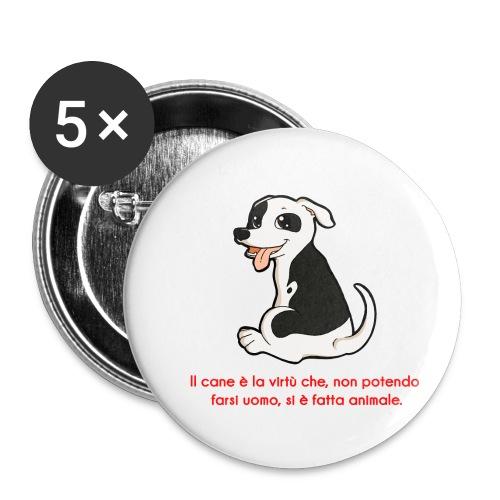 Aforisma cinofilo - Confezione da 5 spille piccole (25 mm)