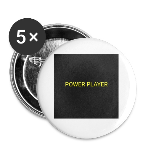 Power player - Confezione da 5 spille piccole (25 mm)